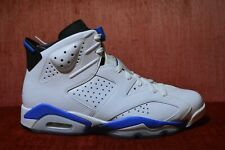 c871cfaea470 NEW Nike Air Jordan VI Retro 6 White Sport Blue Black 384664-107 Size 12