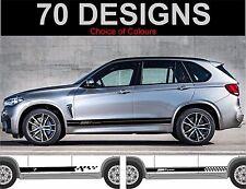 bmw x5 side stripes decals stickers graphic side stripe fit BMW X5