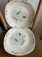 "2 x Midwinter Harmony Dinner Plates 10"" Stylecraft Fashion Shape 5-59 J Tait"