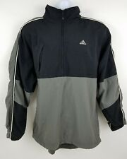 c167ec6f5904 Adidas Half Zip Pullover Gray Black Nylon Water Resistant Men s Jacket Size  M