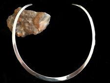 Flacher Halsreif aus 925'er Sterling Silber Halskette Collier moderner Stil