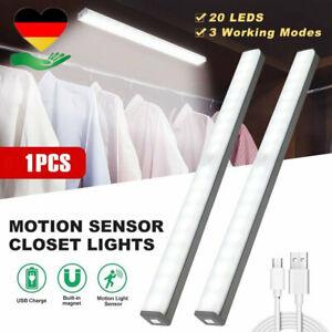 LED USB Unterbauleuchte Mit Bewegungsmelder Batterie Licht Leiste Küche Schrank
