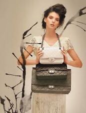 Chanel XXL 228 REISSUE Double-Flap Metallic Black Leather Classic Flap Bag RARE!
