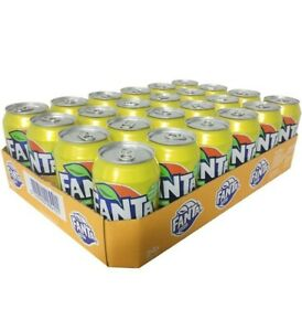 See notes Fanta Lemon 24 x 330ml Refreshing Sparkling Soft Drinks Cans fizzy uk