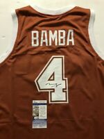 Autographed/Signed MOHAMED MO BAMBA Texas Orange College Jersey JSA COA