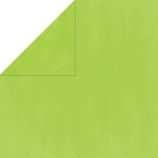 BoBunny 12x12 papel scrapbooking Doble Dot, Kiwi Dot X 2 Hojas