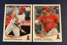2013 Topps #108 #266 ALBERT PUJOLS & KENDRYS MORALES Lot 2 Anaheim Angels