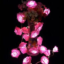 20LED Christmas Decor Rose Flower Fairy Wedding Garden Party Xmas String Lights