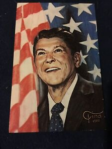 1980s President Ronald Reagan Postcard By Tina, Unposted