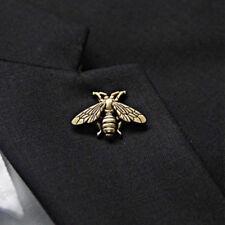 306493de49a Antique Metal Gold Silver Bee Brooch Lapel Pin Badge Men s Suit