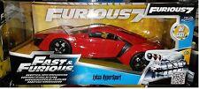 Fast & Furious 7 Lykan Hyper Sport Die-cast Car 1:24 Jada Toys 8 inch Red