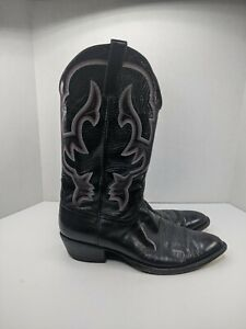 Anderson Beans Mens Size 11.5 A Black Leather Western Cowboy Boots 33880