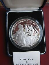 St. Helena 1986 £25 Pounds 5oz Sterling Silver Proof Napoleon Commemorative coin