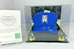 Tiger Woods Autographed Nike Ultralight TW Blue Hat - Upper Deck Authenticated