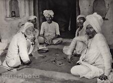 1928 Original INDIA Bundelkand Barwa Sagar Turban Beard Photo Art By HURLIMANN