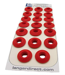 20 Red Plastic Snap Eyelets 12mm, Washer Sealed for Tarpaulin & Groundsheets