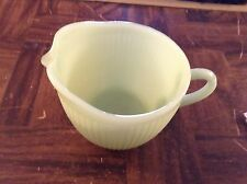 Green vintage fire king ware creamer made in the USA