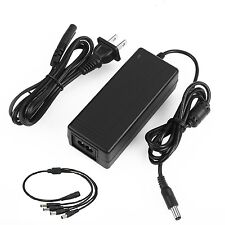 CamVtech USA 12V 3A (3000mA) AC DC Power Supply Adapter + 1 Female to 4 Male ...