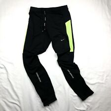 NIKE Women's Running Tights Black/Volt  Size L
