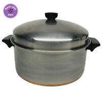 Vintage Revere Ware 6 Quart Copper Clad Stock Pot w/ Lid