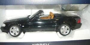 Norev 183750, Mercedes-Benz SL 500, 1999, schwarz, 1/18, NEU&OVP