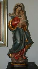 Madonna Holzfigur Heilige Maria Hl. Holz Südtirol Gröden  H 56 cm