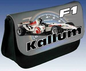 PERSONALISED BOYS F1 RACING SPORTS CAR PENCIL CASE GREAT XMAS GIFT / ANY NAME