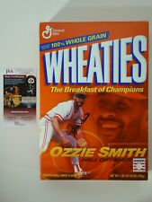 Ozzie Smith St. Louis Cardinals Signed Autographed Wheaties Cereal Box JSA COA