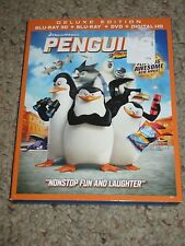 Penguins of Madagascar (Blu-ray/DVD, 2015, Includes Digital Copy 3D/2D) NEW