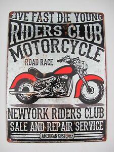 Shabby Blechschild  Eisen Motorcycle H.40x30cm