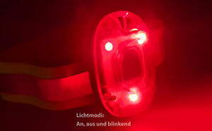 LED Blinklicht Licht Clip Reflektorband Leuchtarmband Fahrrad Joggen Kinder