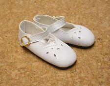 "Doll Shoes, SLIM*  58mm WHITE Girl Dressy - fits 14"" Kish"