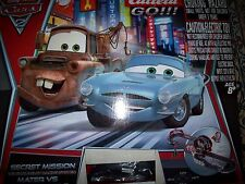 Carrera Go Cars 2 SECRET MISSION 1:43 SLOT CAR Set Mater Finn & McQueen Complete