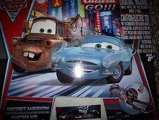 Carrera Go Cars 2 SECRET MISSION 1:43 SLOT CAR Set Mater Finn & McQueen Complete