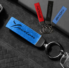 Portachiavi ALCANTARA custom NOME regalo keychain auto LANCIA YPSILON