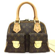 100% Authentic Louis Vuitton Monogram Manhattan PM Hand Bag /71044