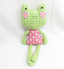 LOLLI LIVING SOPHIA FROG STUFFED PLUSH DOLL TOY BABY RATTLE 17""