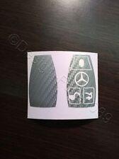 Carbon Silber Folie Dekor Schlüssel Mercedes C E  AMG Brabus W204 CLK W209  W R
