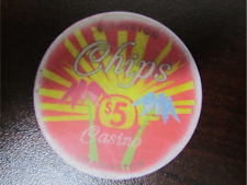 $5 CHIPS CASINO with Parot & Palm Trees Gaming Poker Chip
