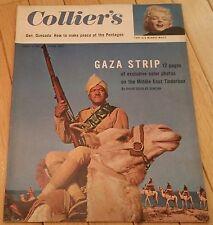 COLLIERS MAGAZINE AUGUST 3 1956 MARILYN MONROE GAZA STRIP BUS STOP FILM