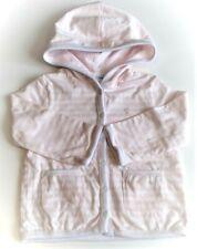 Baby Girls Ralph Lauren Baby Pink Striped Reversable Soft Cotton Hoodie 9,12,18m