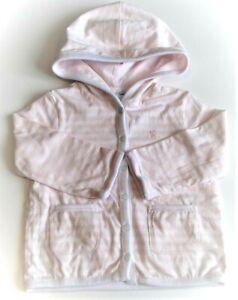 Baby Girls Ralph Lauren Pink Striped Reversable Cotton Hoodie 12m CLEARANCE