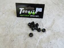 BLACK TENSILE SPROCKET ALLOY CHAIN RING WHEEL CRANK BOLTS  bmx cruiser freestyle