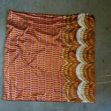 """West Elm """"Orange Abstract Silk""""  20"""" Pillow Cover"""