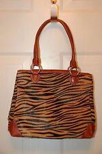 Adrienne VITTADINI Vinttage Zebra Leather  Design Handbag