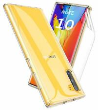For Galaxy Note 10 TPU Clear Hard Back Panel Hybrid Ultra Thin Protect Case