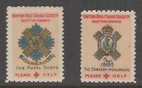 UK GB Red Cross mnh gum Cinderella revenue fiscal Stamp 4-16