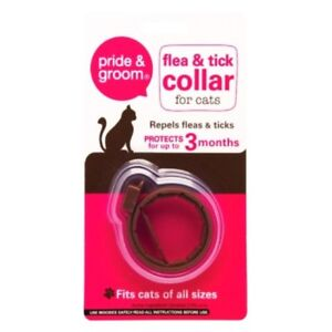 Cat Flea & Tick Collar Flee Lasts 3 Months Protection Stretch Fits All Size Cats