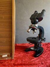 Zeiss Jena 1Q Stereo Mikroskop mit Objektiven im Holzcase