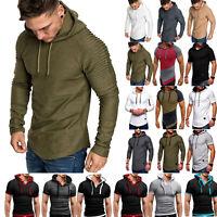 Thermal Mens Slim Fit Long Sleeve Muscle Tee Hoodies T-shirt Tops Sports Blouse